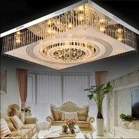 Simple modern CRYSTAL ceiling light room lights rectangular crystal lamp LED ceiling lamp bedroom lighting SJ6 light ya74