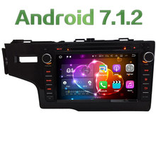 "8"" Quad Core 2GB RAM Android 7.1.2 4G WIFI Multimedia Car DVD Player Radio Stereo GPS Navi For Honda FIT Left Hand Driving 2014"