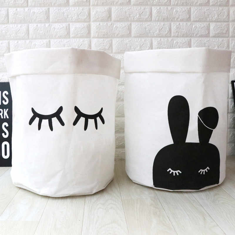 Cartoon Design Dirty Laundry Basket Waterproof Clothes Storage Basket Foot Kids Toys Storage Storage Waste Bin Organizer Clean