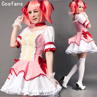 COSFANS New Puella Magi Madoka Magica Cosplay Girl Halloween Kaname Madoka Costume Women Cosplay Dress Maid Clothing For Women