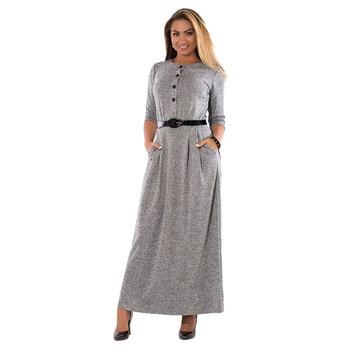 Elegant Vintage Style Long Sleeve Maxi Dress