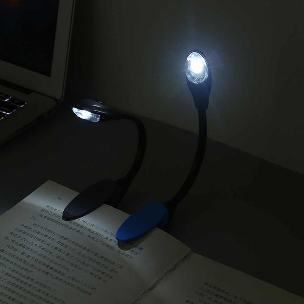Светодиодная лампа для чтения книга свет бесступенчатая яркость Micro USB Перезаряжаемый зажим на лампе с гибкий, в виде гусиной шеи