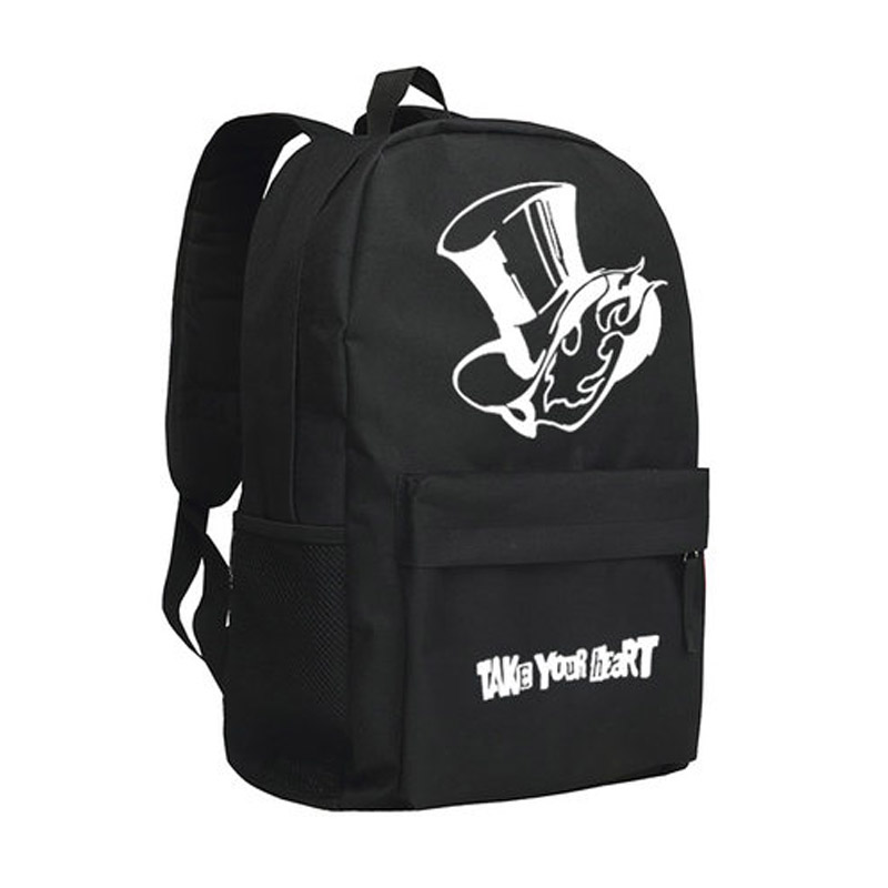 New <font><b>Persona</b></font> <font><b>5</b></font> Cosplay <font><b>Backpack</b></font> HERO Cartoon Bag Anime Oxford Schoolbag image