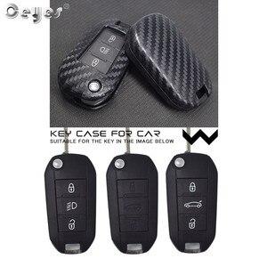 Image 5 - Ceyes 車アクセサリースタイリング保護シェルカバーケースシトロエン C2 C3 C4 C4L C5 C6 プジョー 208 207 308 RCZ 2 3 ボタン
