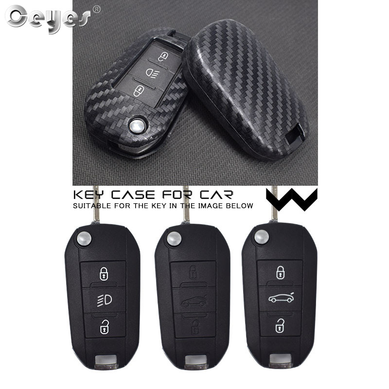 Image 5 - Ceyes Car Accessories Styling Protection Shell Cover Case For Citroen C2 C3 C4 C4L C5 C6 For Peugeot 208 207 308 RCZ 2 3 Buttons-in Car Stickers from Automobiles & Motorcycles