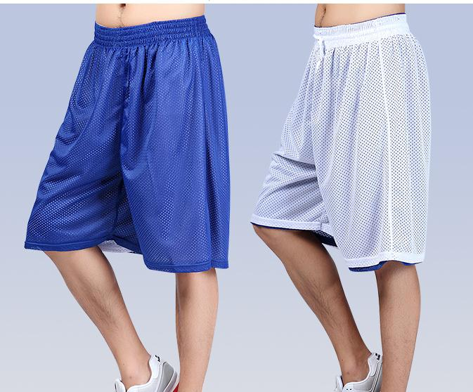 Outdoor 2019 Summer Active Double-side Training Sport Basketball Shorts Men Loose Net Drawstring Short Trousers Plus Size XS-XXL