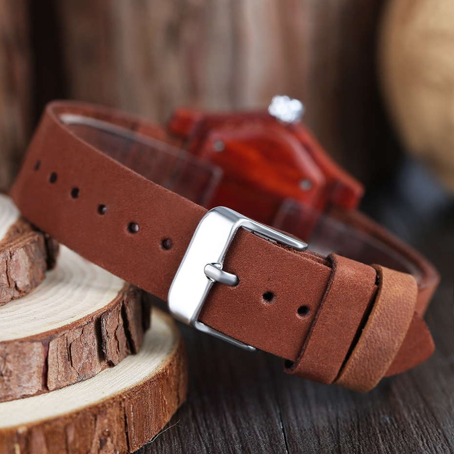 2017 Retro Red Wood Watch Creative Eyes Design Unique Men Women Natural Wooden Quartz-watch Genuine Leather Handmade Unisex Christmas Gifts (10)