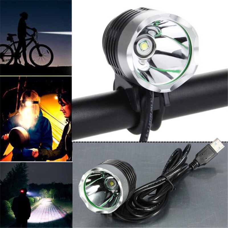3000 Lumen Usb Interface Led Cycling Bicycle Light Headlamp