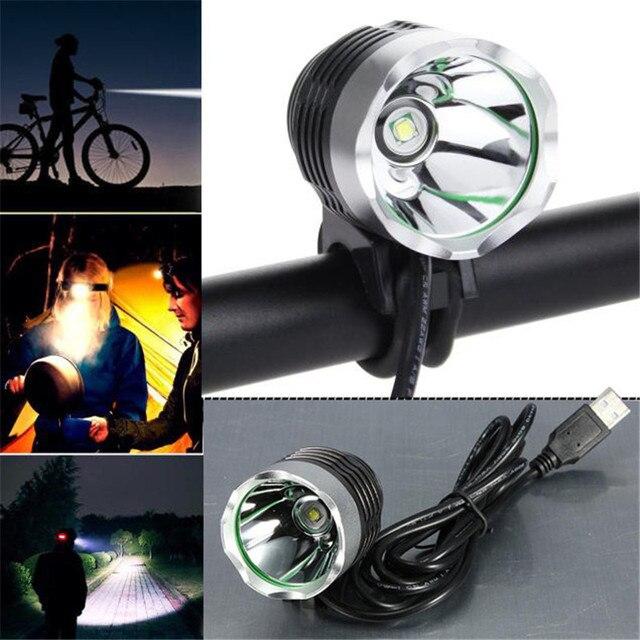 3000 Lumen Usb Interface Led Cycling Bicycle Light Headlamp