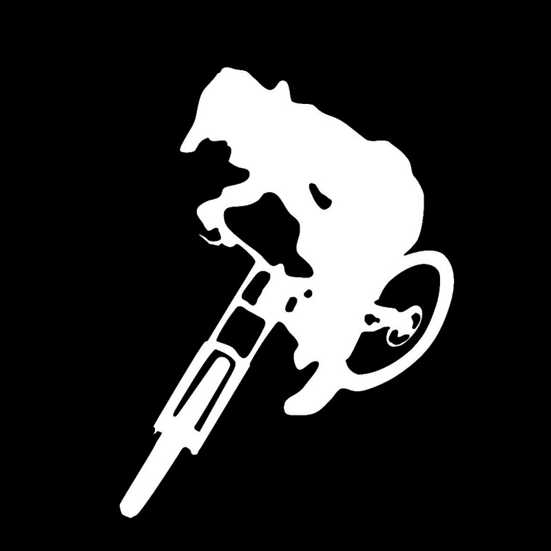 Downhill Trails Mtb Sticker Decal 139mmh Mountain Bike Car