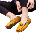 2016 New Arrival Spring Flat Shoes Women Plus Size Round Toe Leopard Loafers Mujer Soft Leather Slip-On Summer Moccasins XJ103