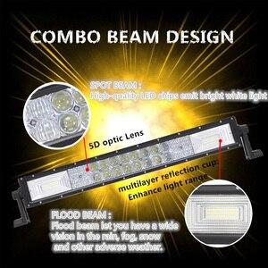 """Image 3 - 22 """"32"""" 42 """"50 inç Led iş lambası şeridi 5D Lens Off road 4x4 ATV UTV kamyon tekne Uaz 12V 24V Combo işın Offroad Bar sürüş ışıkları"""