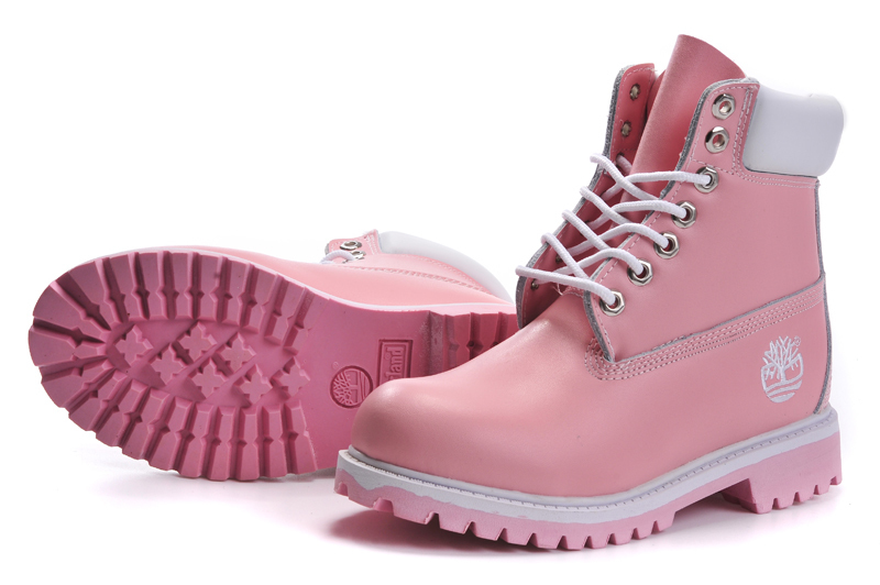 TIMBERLAND Women Classic 10061 Light Pink Spring/Autumn Martin Boots,Woman Popular High Top Solid Color Leather Ankle Shoes  3