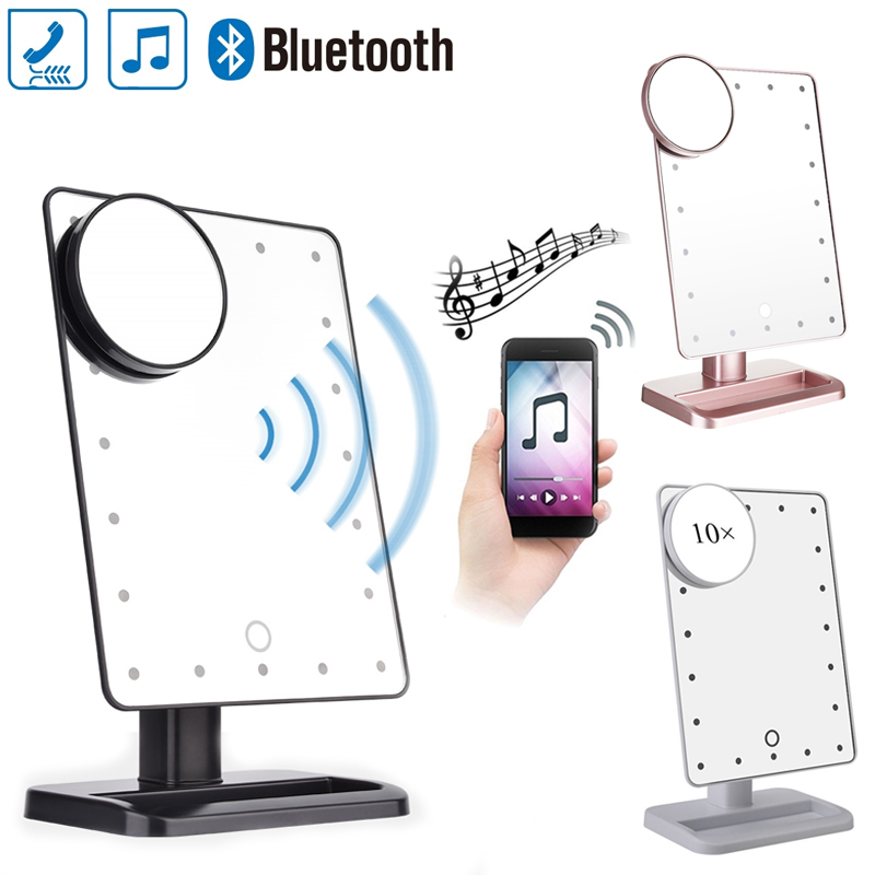 Bluetooth Speaker Led Makeup Mirror Smart Musical 20