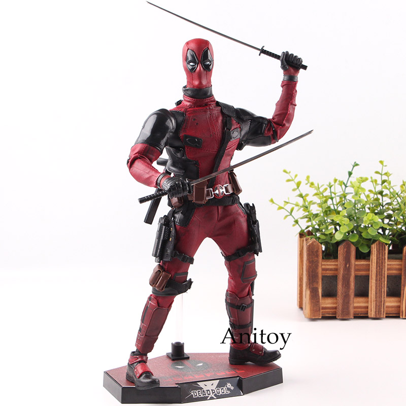 Hot Toys MMS 347 X-Men Deadpool Super Hero 1/6 Scale with Real Clothes PVC Marvel Action Figure Collection Model Toys 16cm x men deadpool variant movable super heroes pvc action figures model dead pool with weapons kids diy gift toys