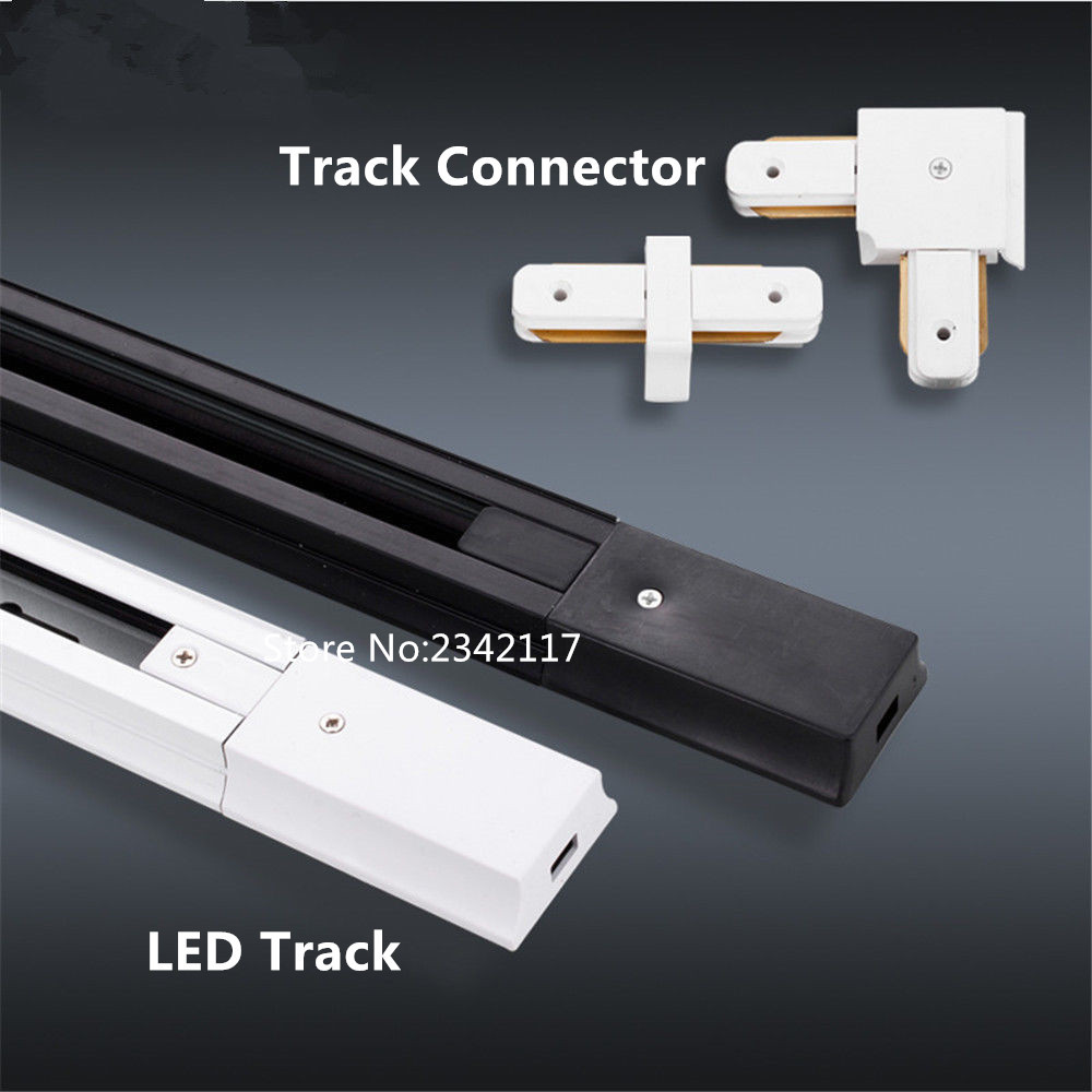 10MXDHL 1m led track light rail connector track rail Universal two wrie rails aluminum track led