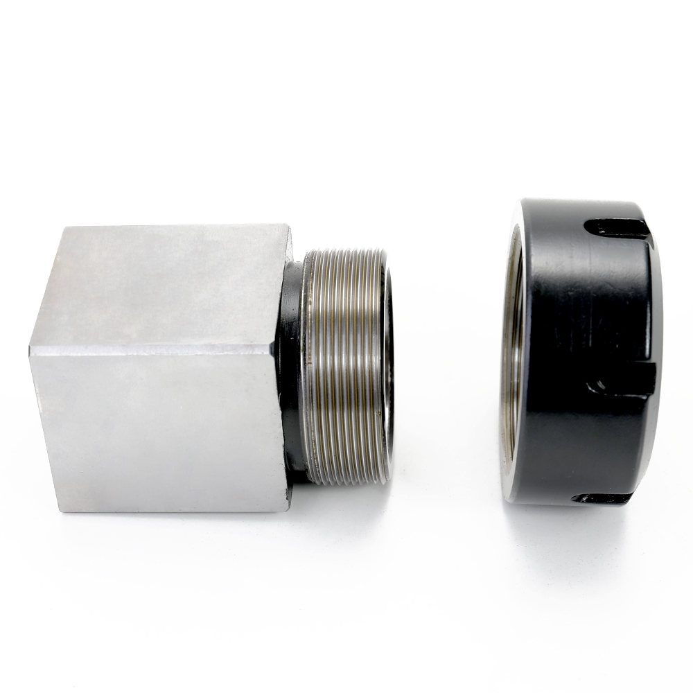 1pc Square ER40 Collet Chuck Block Holder 3900 5125 For CNC Lathe Engraving Machine Cross Hole Drilling
