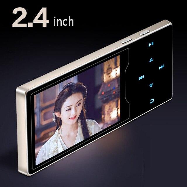 Nouveau produit métal Mp4 Player 2.4 pouces HD grand écran couleur jouer haute qualité lecteur vidéo Radio Fm E-Book lecteur de musique mp3 mp5