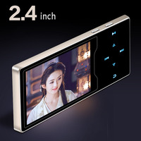 New product Metal Mp4 Player 2.4inch HD Large Color Screen Play High Quality Video player Radio Fm E Book Music Player mp3 mp5