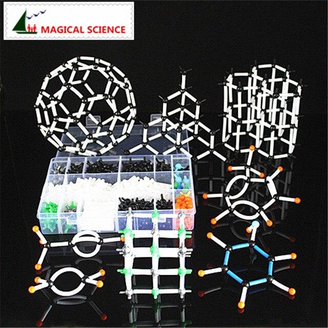620 Uds kit de modelo molecular de 9mm con caja, modelo de enseñanza de química orgánica para profesores y estudiantes en la escuela secundaria y la Universidad