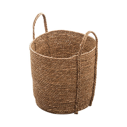 Natural Straw Basket Hand-Woven Foldable Nursery Bin for Laundry Dirty Clothes Toy Storage Plant Flower Pots Cover
