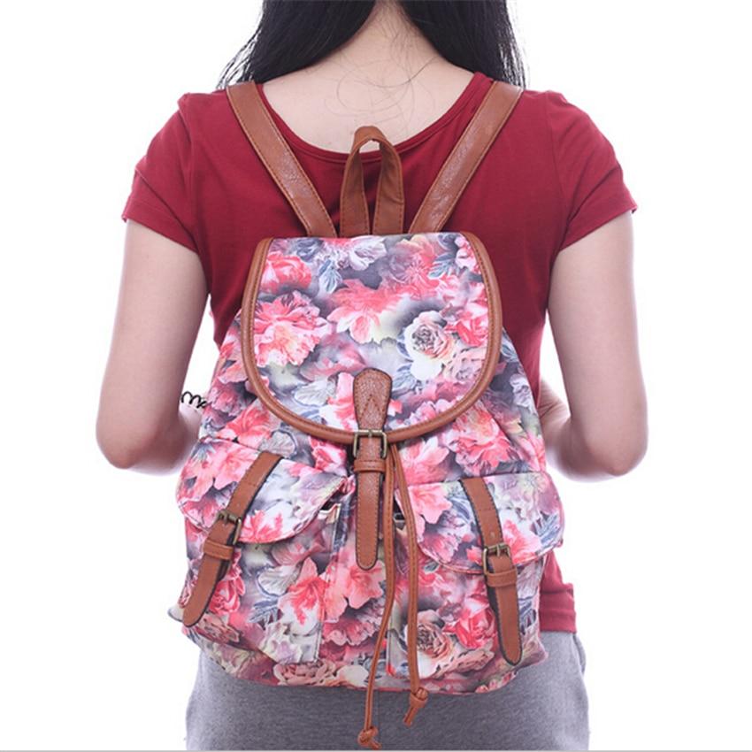 New Women Printing Backpack Canvas Floral School Bags For Teenagers Shoulder Bag Travel Bagpack Sac Bolsas Mochilas Femininas