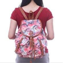 Neue Frauen Druck Rucksack Canvas Floral Schultaschen Für Jugendliche Umhängetasche Reise Bagpack Sac Bolsas Mochilas Femininas