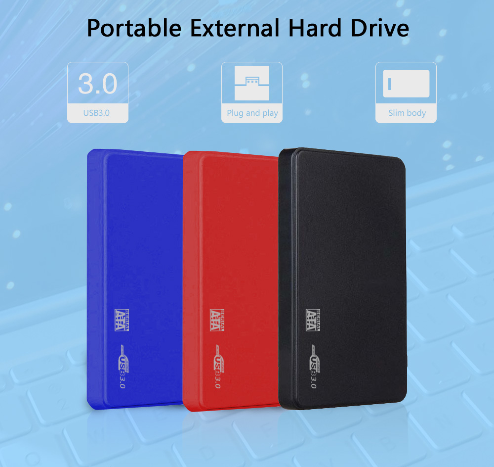 Slim External Hard Drive Disk500G 1tb USB3.0 SATA Portable HDD, Compatible With Xbox One/Xbox 360/PS4/Mac/Tablet/PC, Easy Use