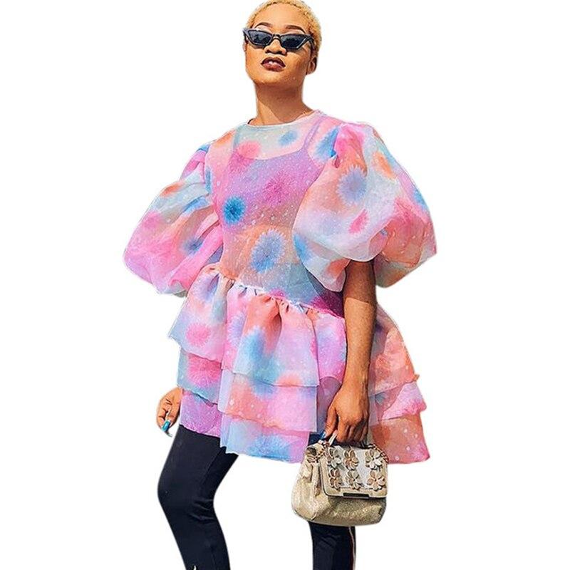 646792c1818 Celmia Лето 2019 г. Асимметричный туника топ ретро белье для женщин блузка  разделение Плиссированные Длинные