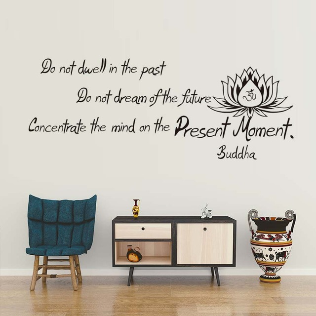 High Quality PVC Buddha Said Do Not Dwell In The Past Wall Decals Living  Room Art