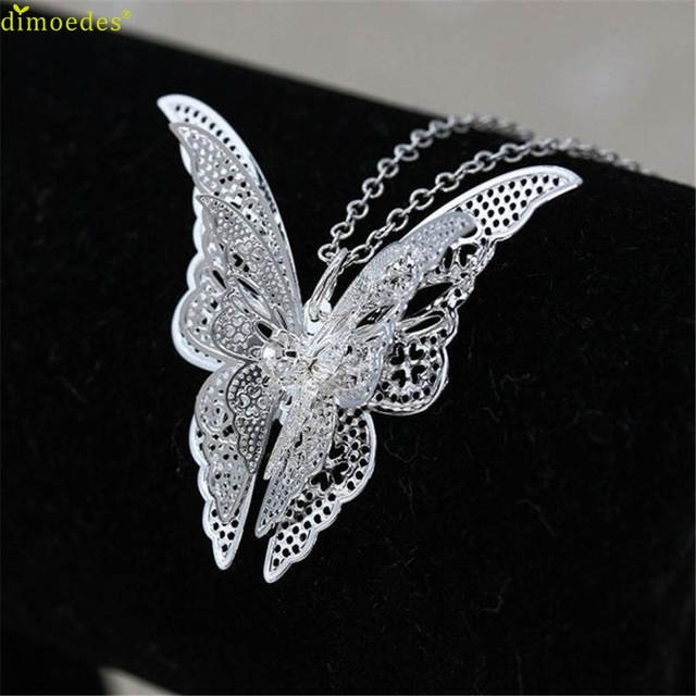 Diomedes Newest Necklace Women Women Lovely Butterfly Pendant Chain Necklace Jew