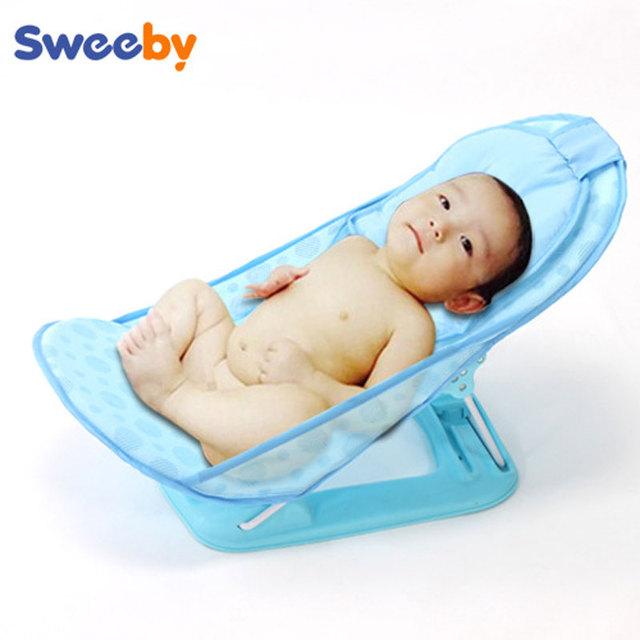 Bebé de la alta calidad de baño ajustable asiento asiento de la bañera baño del bebé silla plegable
