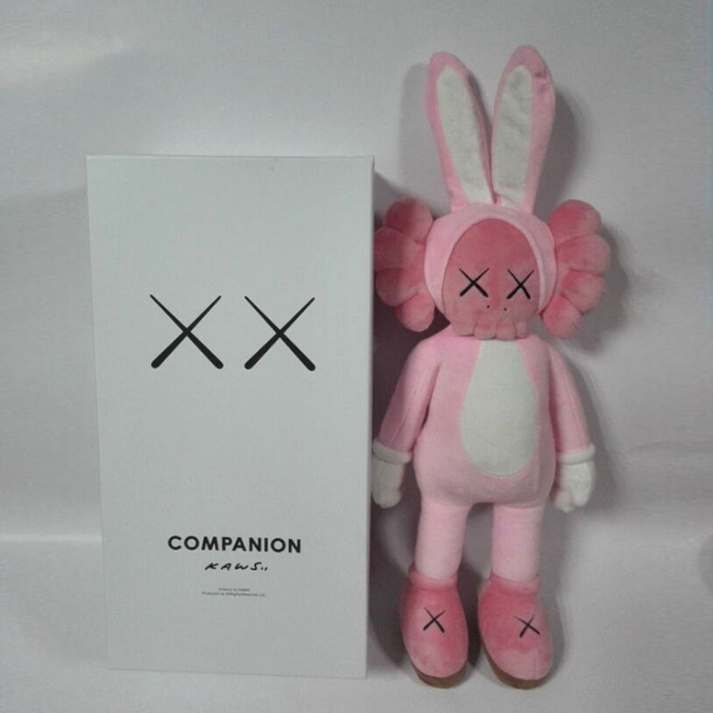 16 Inch KAWS BFF Black Pink rabbit Fashion Doll OriginalFake Brian Street Art volet Action Figure Collectible Model Toy серьги diva diva di006dwzgk63