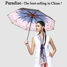 Marka Auti UV Moda Şemsiye Yağmur Kadınlar Ayçiçeği Katlanır Şemsiye Moda Kaliteli Rüzgar Geçirmez Güneş Şemsiyesi Kız Büyük Kadın Hediye