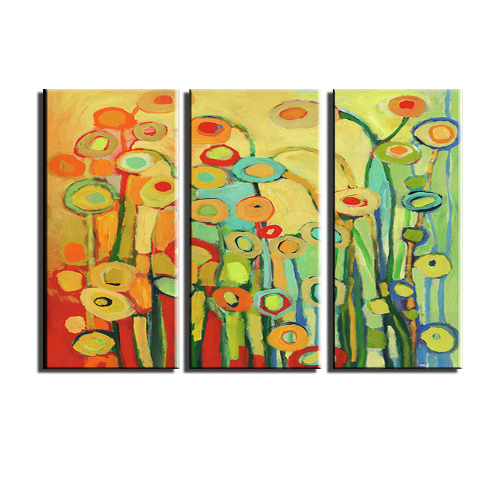 Affordable Modern Wall Art 3. abstract modern 3 panel canvas wall ...