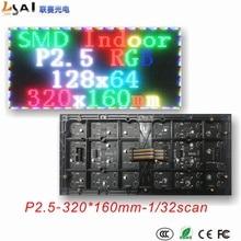 цена на Indoor P2.5 Full Color RGB LED dot matrix module 320*160mm 128*64 pixels