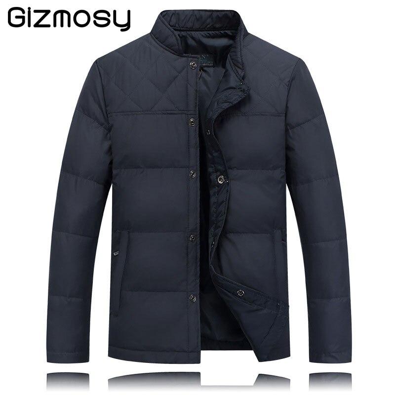 2017 Warm Outwear Winter Jacket Men Windproof Stand Collar Men Warm Cotton Jacket Plus Size 2 Colors Winter Coat L-4XL BN1436
