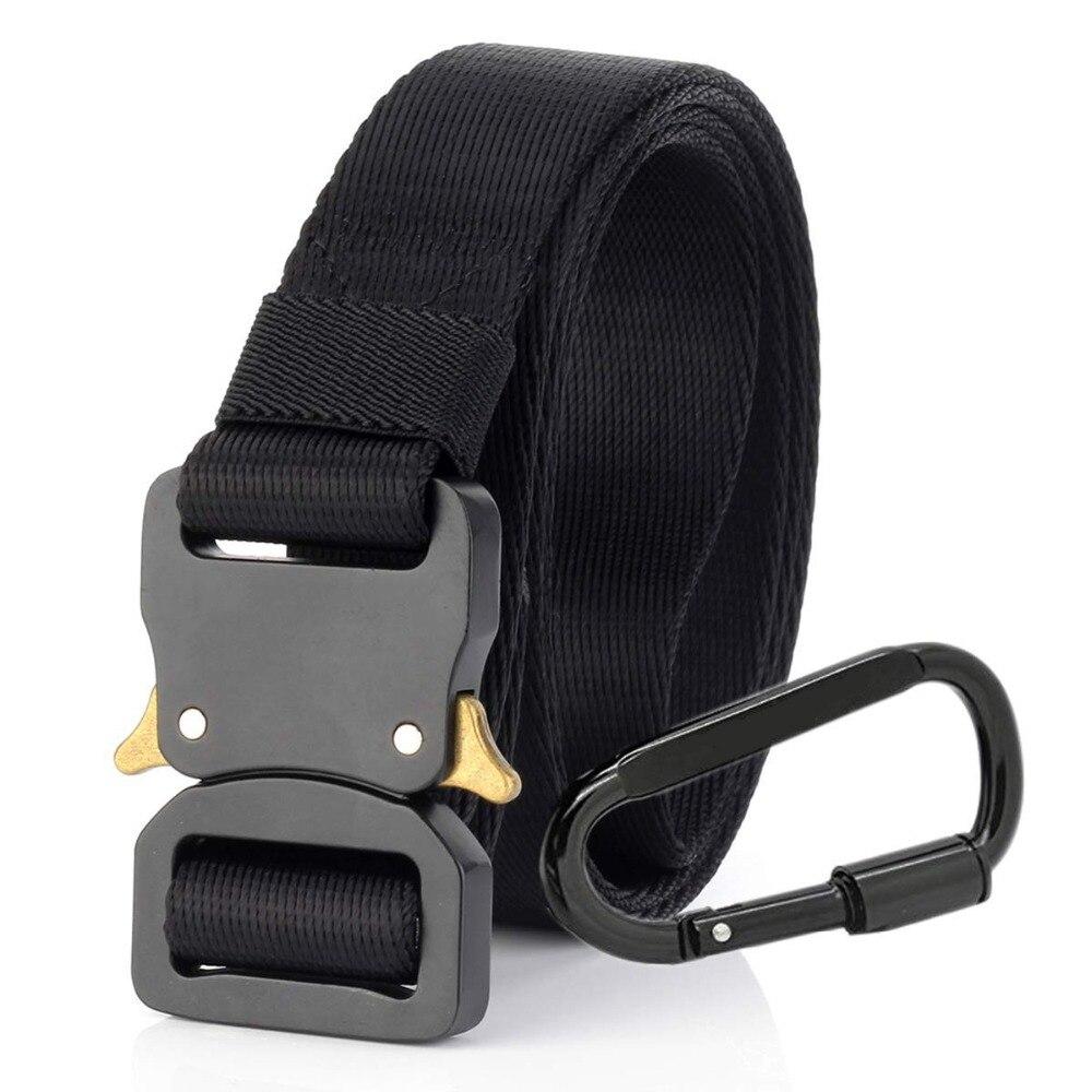 Tactical Belt Nylon EDC Belts Men Daily Black Buckle Women Military Combat Belt