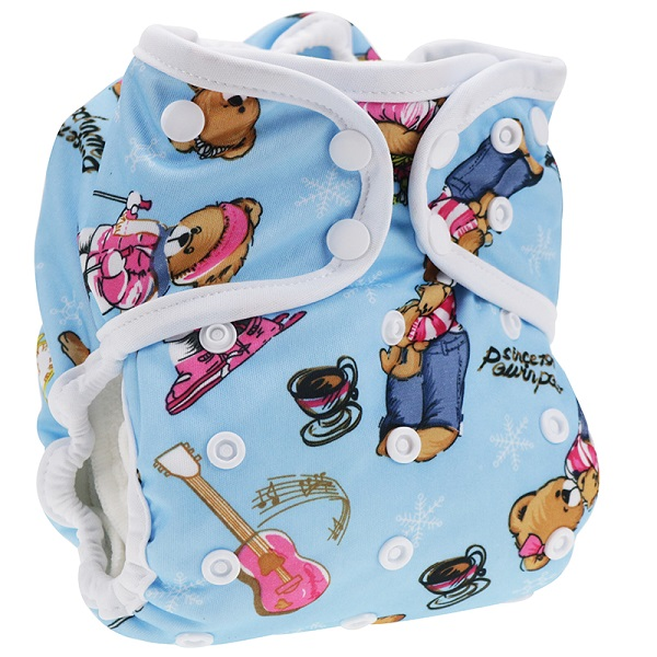 Baby urine non-pants trousers edging printing two in one thick leak-proof cloth diapers diaper wash pants wholesale