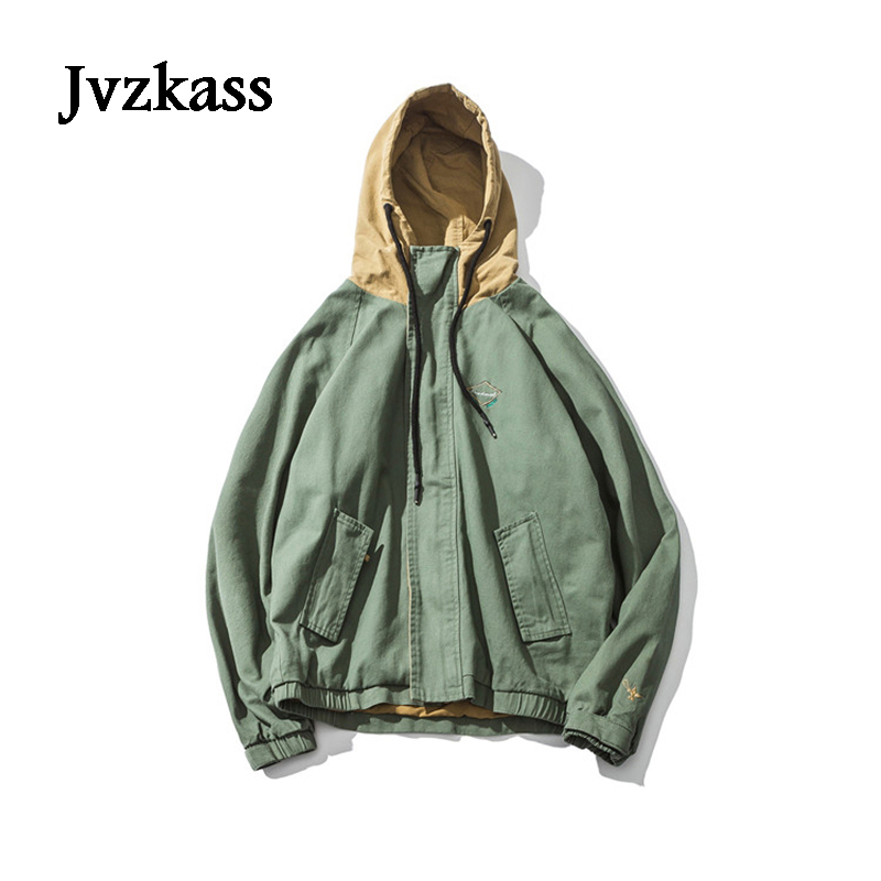 Jvzkass 2018 new American street hooded jacket female new bf loose couple shirt retro chic jacket women's autumn Z14