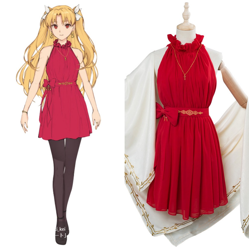 Fate Grand Order Cosplay Ereshkigal Cosplay Costume Valentine's Day Event Cosplay Costume Dress Outfit Women Halloween  Carnival