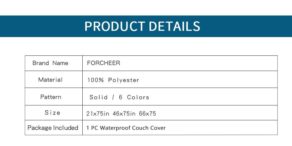 Sofa Cover Waterproof Washable Non-slip 1 PC