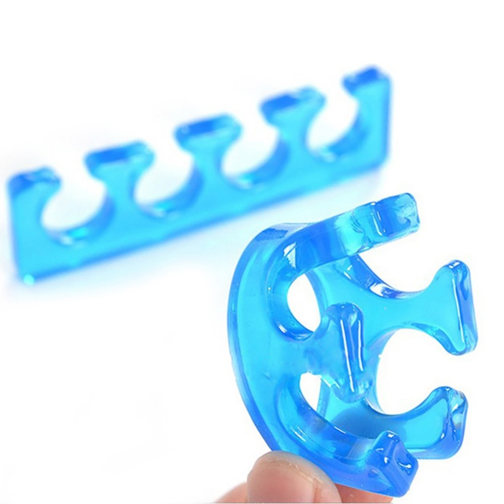LEARNEVER High Quality Manicure Splitter Separator Soft Silicone Finger Remover Manicure Tool Toe Care