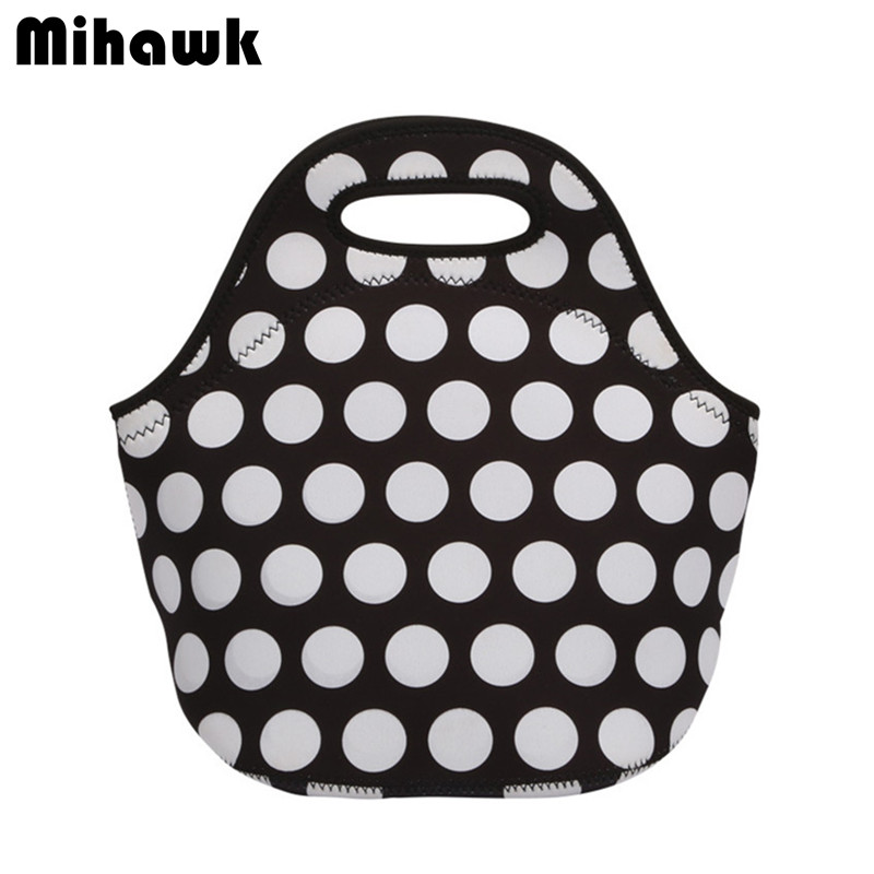 Neoprene Thermal Insulated Lunch Bag Women Kids Waterproof Food Cooler Tote Beverage Storage Pouch Leisure Accessories Supplies