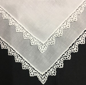 Set Of 12 Fashion Ladies Handkerchiefs White Cotton Lace Edges Wedding Bridal Hankies Hanky For Bride Of Mother Gifts 12x12-inch