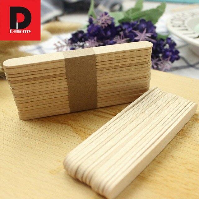Dehomy 200Pcs Lot DIY Ice Cream Stick Natural Wooden Popsicle Sticks Kids Hand Craft Making