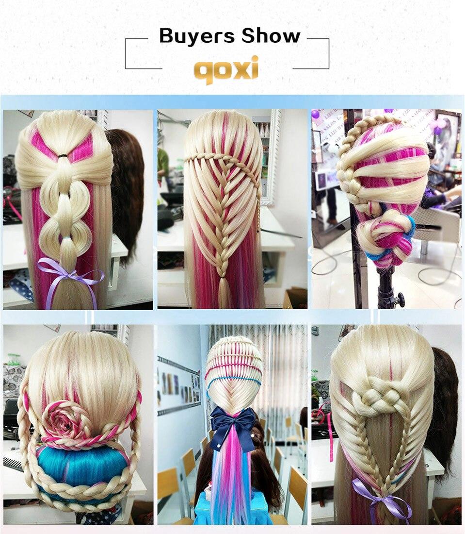 com longos cabelos grossos prática cabeleireiro manequim