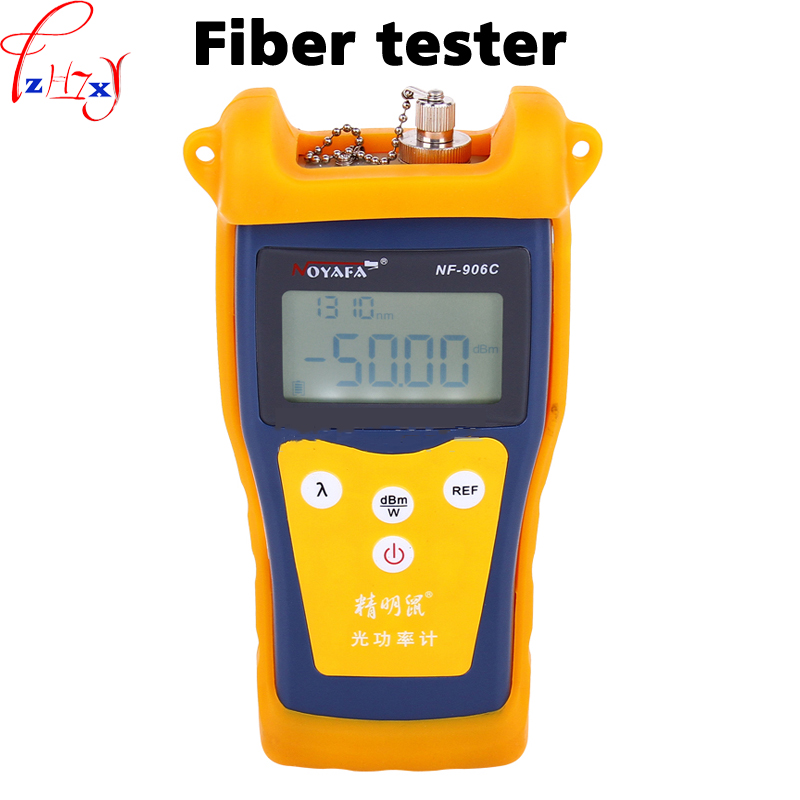 Hand-held optical fiber tester NF-906C LCD display English optical power meter -50~+26 dBm fiber optic tester 9V mt 7601 fiber optic power meter laser fiber optic tester optical fiber power meter automatic identification frequency