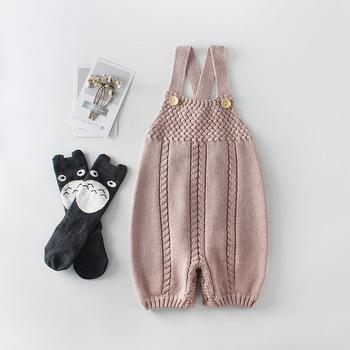 Knitted Woolen Girl Pink Romper