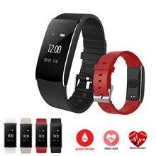 Новинка 2017 года A86 Smart Браслет Heart Rate Мониторы Приборы для измерения артериального давления крови кислородом IP67 Водонепроницаемый Smart Браслет для Android IOS Телефон